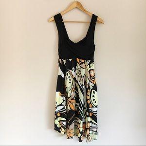 Anthropologie C. Keer Multi Color Floral Dress